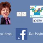 Wat is nu eigenlijk het grote verschil tussen een Facebook pagina en een Facebook profiel?